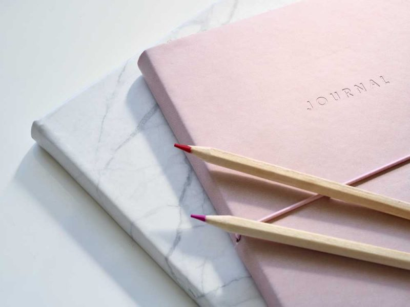 journal and notebooks