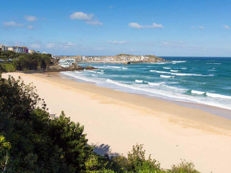Porthminster Beach in St Ives, Cornwall.