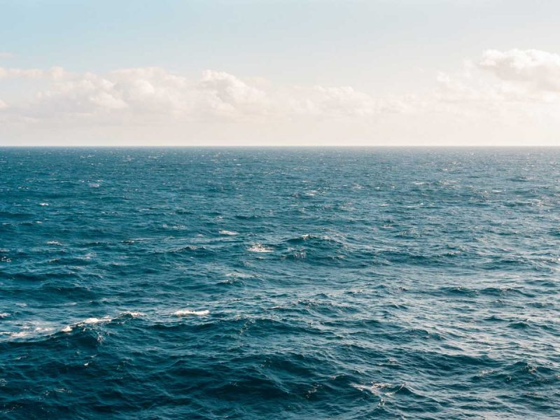 Ocean with horizon