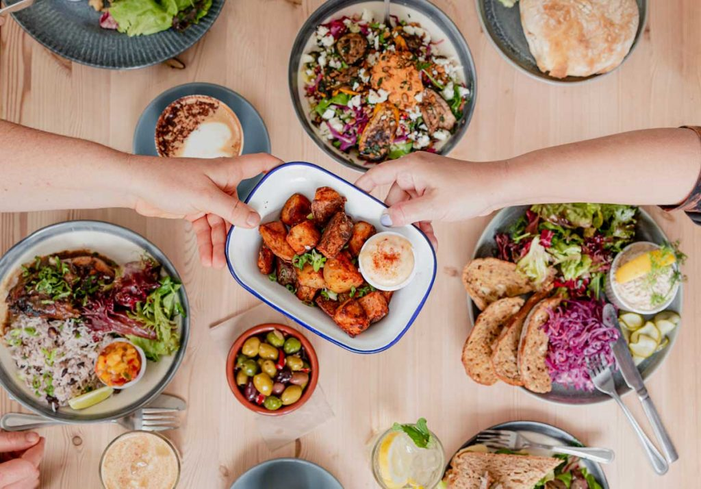 The Honey Pot cafe lunch spread - Restaurant photography by Onna Boden.